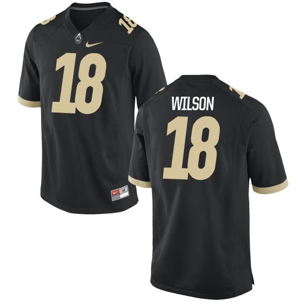Youth Nike Eddy Wilson Purdue Boilermakers Game Black Football Jersey