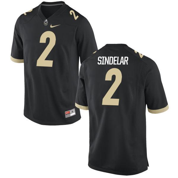 Men's Nike Elijah Sindelar Purdue Boilermakers Game Black Football Jersey