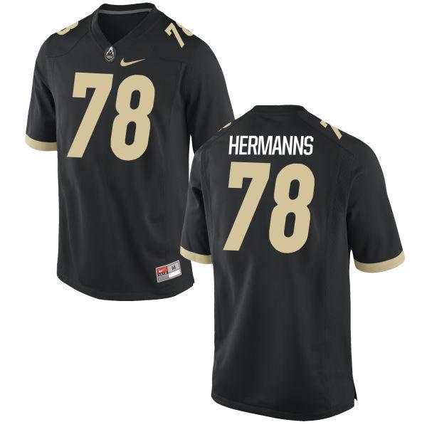Youth Nike Grant Hermanns Purdue Boilermakers Game Black Football Jersey